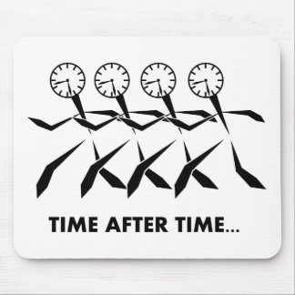 Série dos idioma do tempo - por muitas vezes segui mousepad