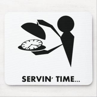 Série dos idioma do tempo - tempo do serviço mouse pad