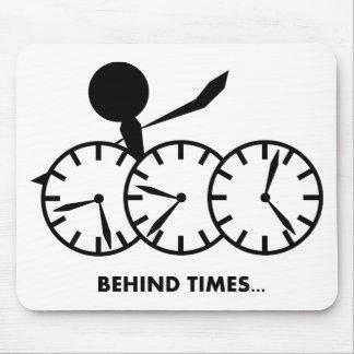Série dos idioma do tempo - tempos de Behing Mouse Pad