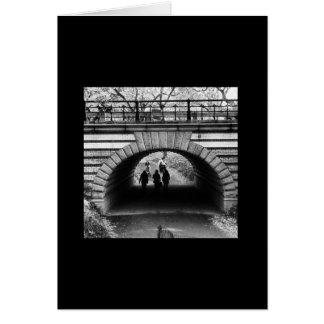 Série icónica de New York: Arco do Central Park Cartão Comemorativo