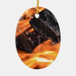 Série Lello do fogo Ornamento De Cerâmica Oval
