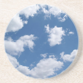 Série variada---Nuvens em um céu azul Porta Copos De Arenito