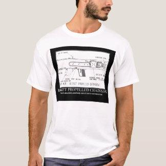 serra de cadeia propelida foguete t-shirt