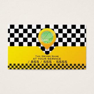 Serviço amarelo do motorista de táxi do táxi cartão de visitas