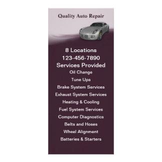 Serviço automotriz panfletos informativos personalizados