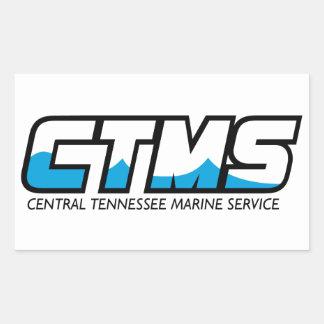Serviço central do fuzileiro naval de Tennessee Adesivo Em Forma Retangular