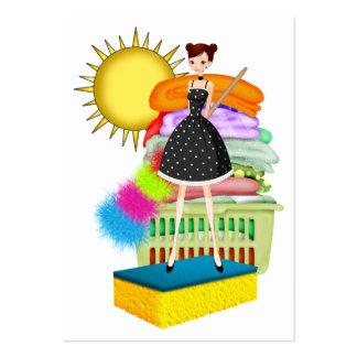 Serviço da limpeza/ajudante da mãe - SRF Cartão De Visita Grande