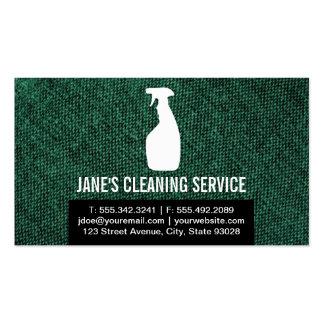 Serviço da limpeza cartão de visita