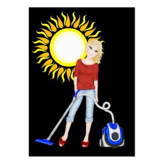 Serviço da limpeza - SRF Cartão De Visita Grande