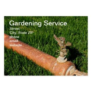Serviço de jardinagem cartão de visita