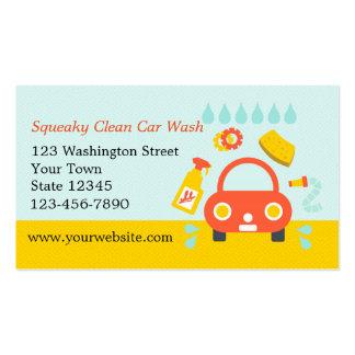 Serviço do lavagem de carros cartão de visita