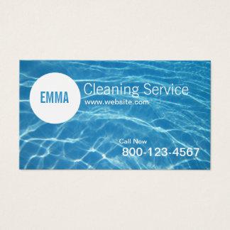 Serviço profissional da limpeza da casa cartão de visitas