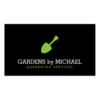 Serviços ajardinando de jardinagem da pá verde do cartão de visita