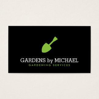 Serviços ajardinando de jardinagem da pá verde do cartão de visitas