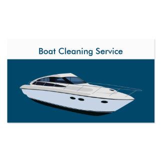 Serviços da limpeza do barco cartão de visita
