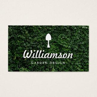 Serviços de jardinagem das folhas brancas do verde cartão de visitas