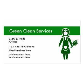 Serviços verdes da limpeza cartão de visita