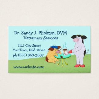 Serviços veterinários cartão de visitas