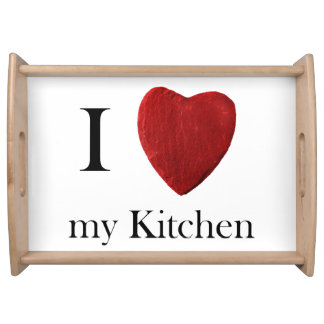 Serviertablett j Kitchen love my Bandeja De Alimentos