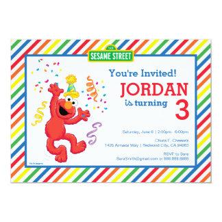 Sesame Street | Elmo - aniversário do arco-íris Convite 12.7 X 17.78cm