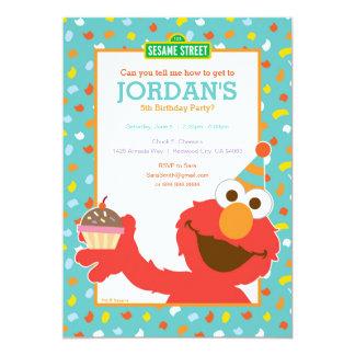 Sesame Street | Elmo - aniversário do cupcake & Convite 12.7 X 17.78cm