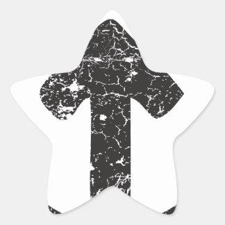 Seta do círculo adesivos estrelas