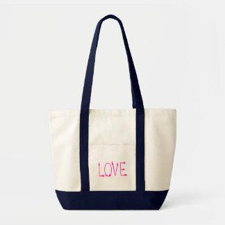 Setas de amor fúcsia do rosa quente bolsa tote
