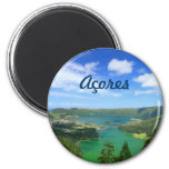 Sete Cidades - Açores Ímã Redondo 5.08cm