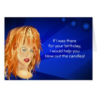 Seu aniversário cartão de nota