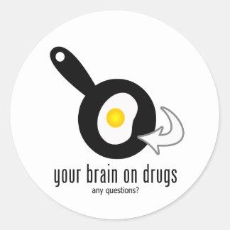 Seu cérebro em drogas adesivo