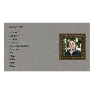 Seu da foto quadro de madeira aqui (impressão) cartão de visita