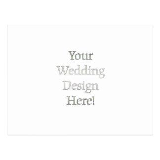 Seu design do casamento cartão postal