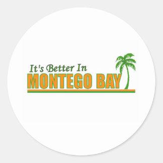 Seu melhor em Montego Bay Adesivo Em Formato Redondo
