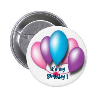 Seu meu aniversário bóton redondo 5.08cm