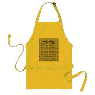Seu modelo padrão amarelo 2 do avental da foto & d