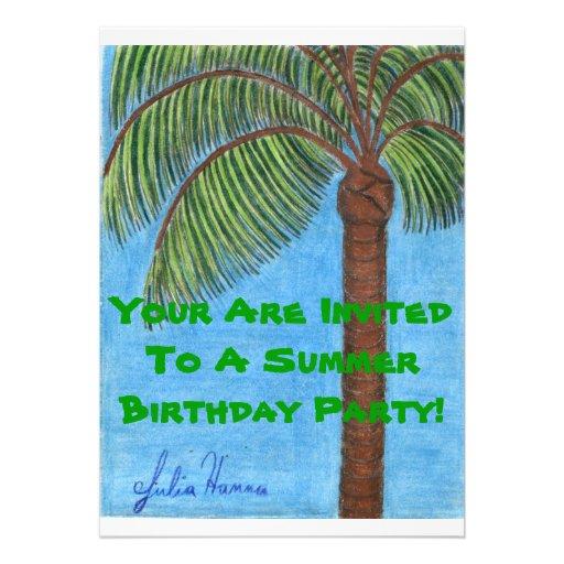 Seu são convidados a uma festa de aniversário do v convite personalizados