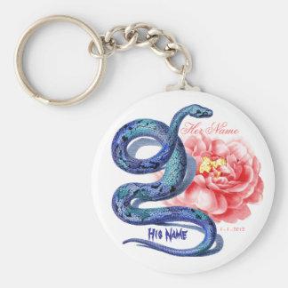Seu seu rosa do cobra personaliza o presente da fe chaveiro