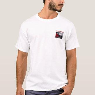 Seu t-shirt do branco do carro do preto da empresa