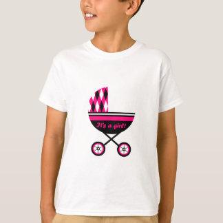 Seu um carrinho de criança da menina tshirt