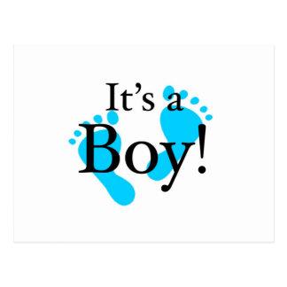 Seu um menino - bebê, recém-nascido, celebração cartão postal