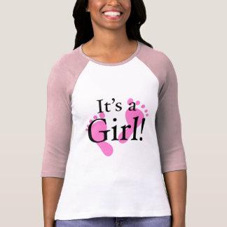Seu uma menina - bebê, recém-nascido, chá de t-shirt