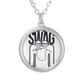 seus ganhos sugam, engraçado colar banhado a prata