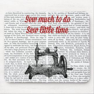 Sew pouca ilustração do tempo mouse pad