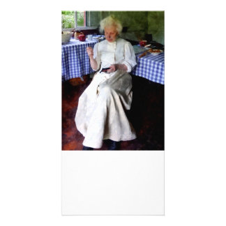 Sewing da avó cartões com foto