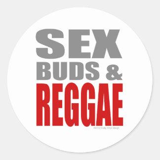 SexBuds & REGGAE Adesivos Redondos
