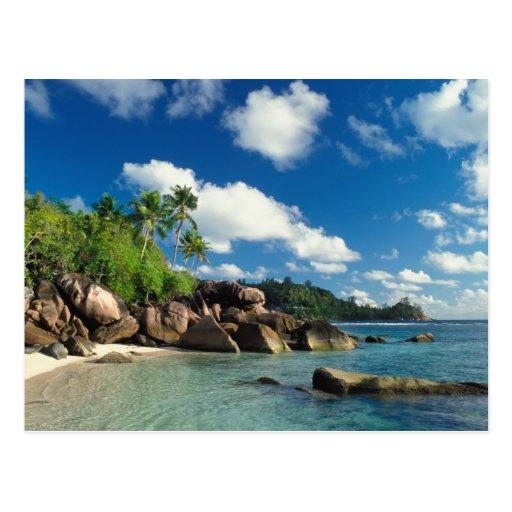 Seychelles, ilha de Mahe, baía de Lazare Cartão Postal