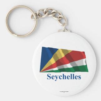 Seychelles que acenam a bandeira com nome chaveiro