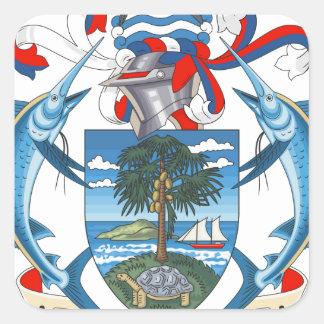 SeychellesCoat dos braços Adesivo Em Forma Quadrada