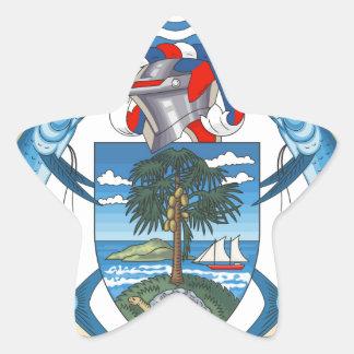SeychellesCoat dos braços Adesivos Em Forma De Estrelas