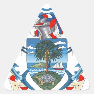 SeychellesCoat dos braços Adesivo Triângulo